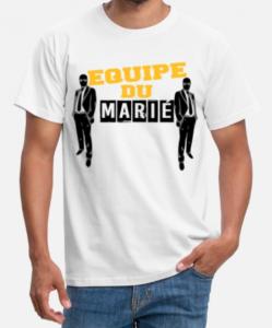 t shirt equipe du marie